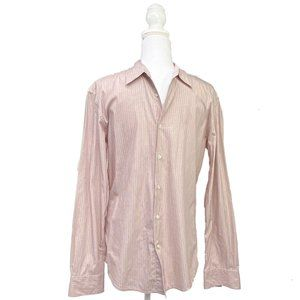 John Varvatos  Striped Button Up Dress Shirt | M